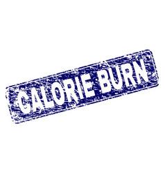 Grunge calorie burn framed rounded rectangle stamp vector