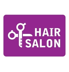 Hair salon icon with scissors vector