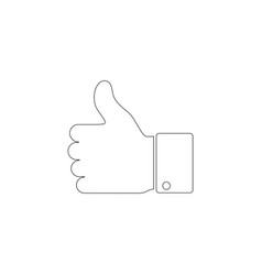 hand thumb up flat icon vector image