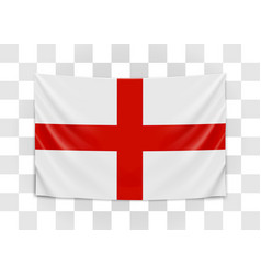 hanging flag england england national flag vector image