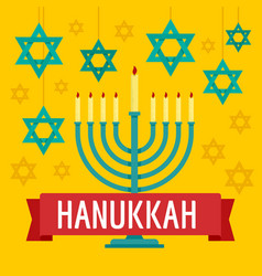 hanukkah concept background flat style vector image