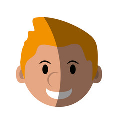 Head of happy man character icon image vector