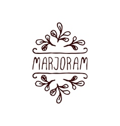 Herbs and Spices Collection - Marjoram vector
