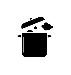 home cooking black icon sign on isolated vector image