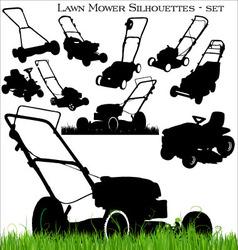 lawn mower set vector image