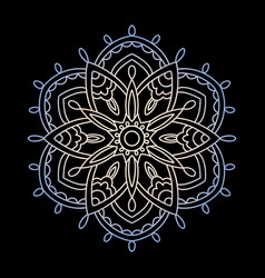 Mandala circular ornament on a vector