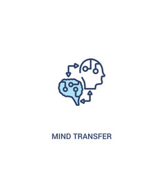 Mind transfer concept 2 colored icon simple line vector
