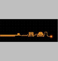 Montpellier light streak skyline profile vector