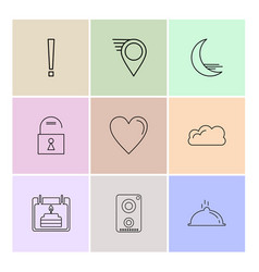 Navigations heart crecent unlock user vector