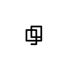Ninety nine number double line art outline vector