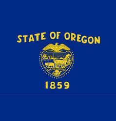 Oregon state flag vector