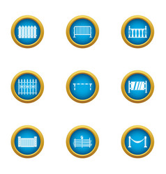 Overlap icons set flat style vector