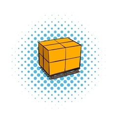 Pallet comics icon vector