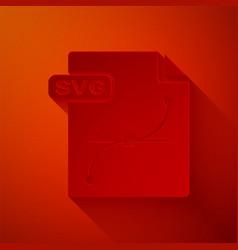Paper cut svg file document download svg button vector