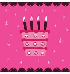 pink cake vector image