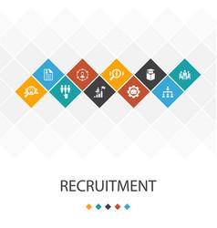 Recruitment trendy ui template infographics vector