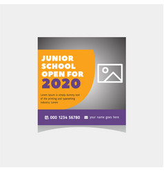 School education admission social media post web vector