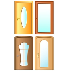 set modern doors vector image
