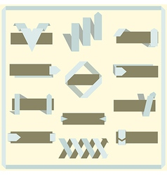 set retro ribbons banners and labels vector image