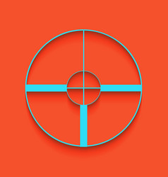 Sight sign whitish icon on vector