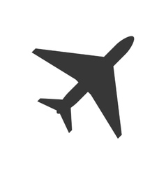 single airplane icon vector image