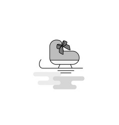 skates web icon flat line filled gray icon vector image