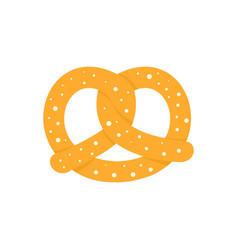 Soft pretzel icon flat style vector