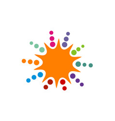 sunrise teamwork marketing vector image