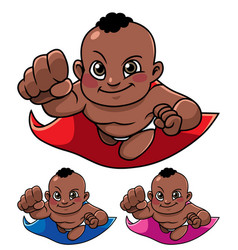 super baby black vector image