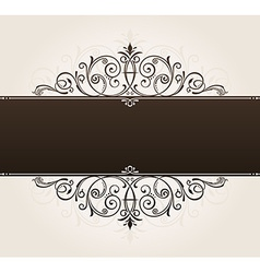 Template for text vintage frame decorated vector