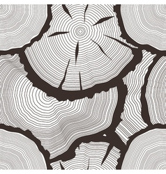 Tree rings set concept of saw cut tree trunk vector