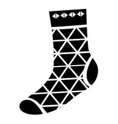 triangular sock icon simple style vector image