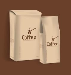 Vacuum package coffee vector