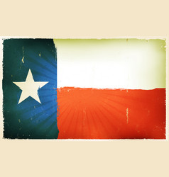 Vintage american texas flag poster background vector