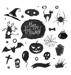watercolor halloween vector image