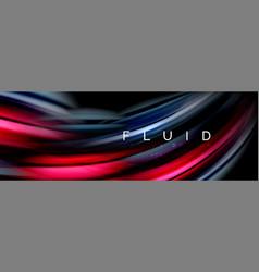 Wave fluid flowing colors motion effect vector