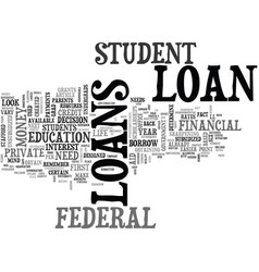 Which student loan is right for you text word vector