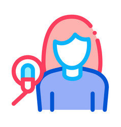 woman with microphone icon outline vector image
