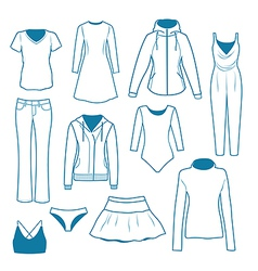 Women s clothes vector