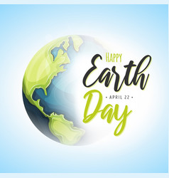 World earth day background vector