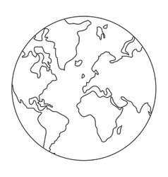 World map globe earth icon vector
