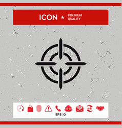 aim icon vector image vector image