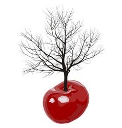 cherry tree of cherries vector image vector image