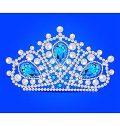 crown tiara women with glittering vector image vector image