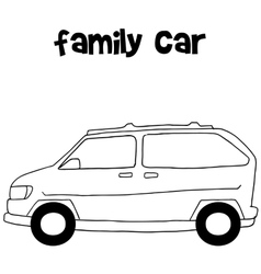 Family car of art vector image vector image