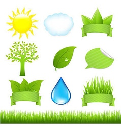 Nature Set vector image vector image