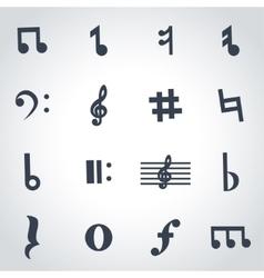 black notes icon set vector image