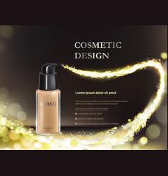 colorstay make-up in glass bottle on a black vector image vector image