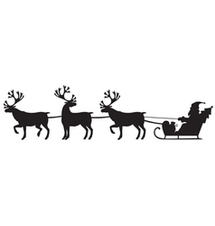 deer and santa vector image vector image