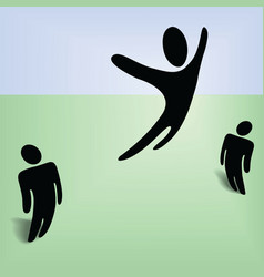 flying person vector image vector image